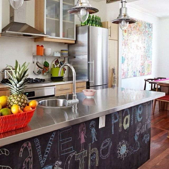 Chalk board kitchen. I want. Ok may want most of my kitchen in chalk board.
