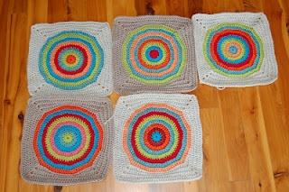 My new bullseye blanket in progress