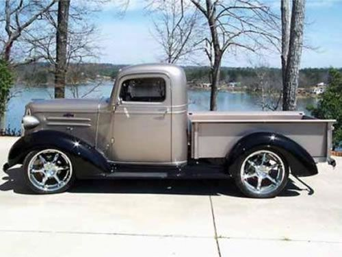 1937 chevy truck 1.5 ton don't like the rims... but love the bed!
