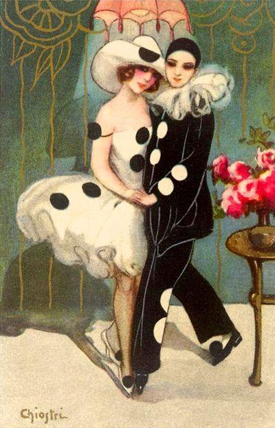 Vintage Pierrot  Pierette Lovers