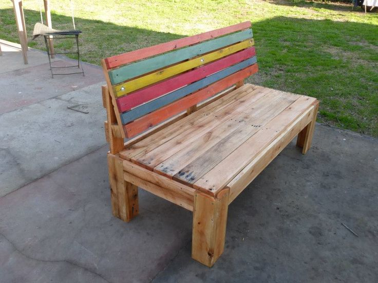 Pallet Outdoor Sofa With Comfort Back | Pallet Furniture