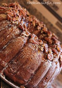 Apple Pecan Bundt Cake with Cream Cheese Filling Recipe ~ Says: Between the pecan and apple cake, sweet cream cheese filling and caramel frosting, it is like I died and went to heaven!