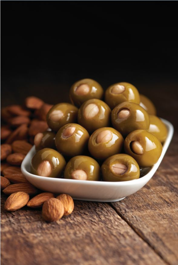 Green Olives Stuffed With Almond - Castella Imports