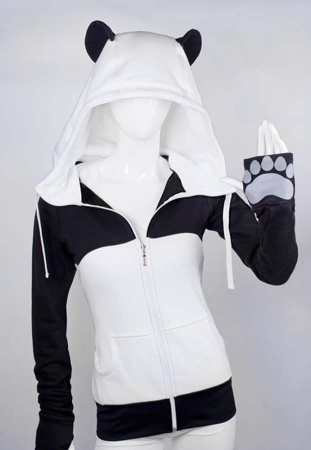 Awesome panda hoodie. I WOULD WEAR THIS EVERYDAY...Even in the summer. Over a tank top and shorts. Except i'd take it off to wash it..: