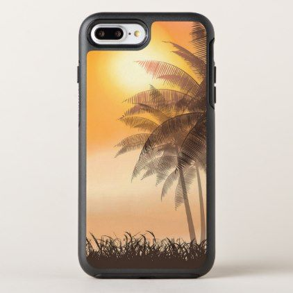 Serene Tropical Sunset & Palm Trees | Phone Case - simple clear clean design style unique diy