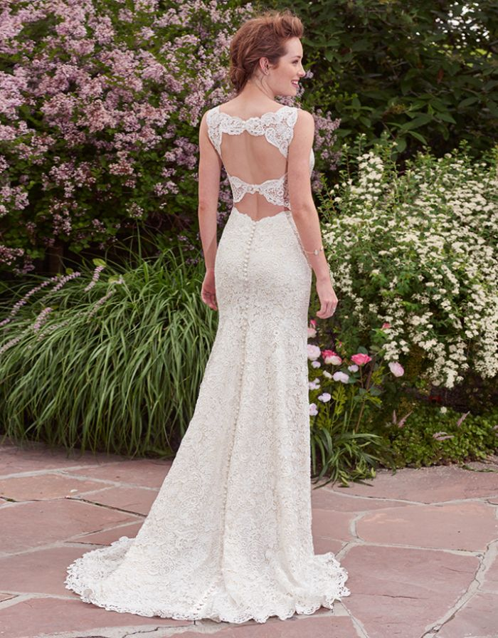Best Swooning over the double keyhole back on this bridal gown in BridalPulse Wedding Dress Gallery