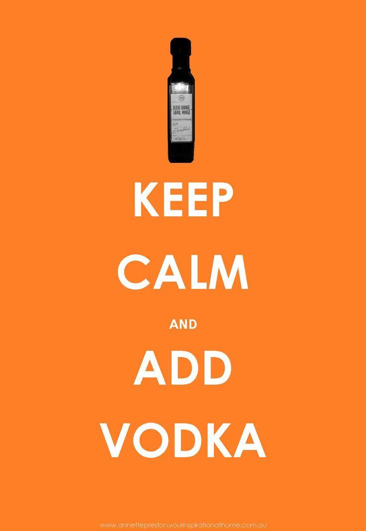 Add a little splash of Blood Orange Guava & Mango Vinegar (OMG) to your next vodka & soda - Yum!