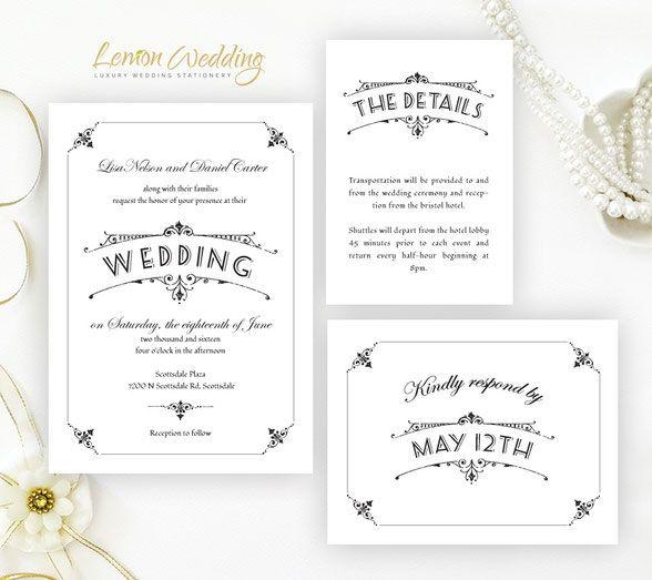 158 Best Wedding Invitations Images On Pinterest