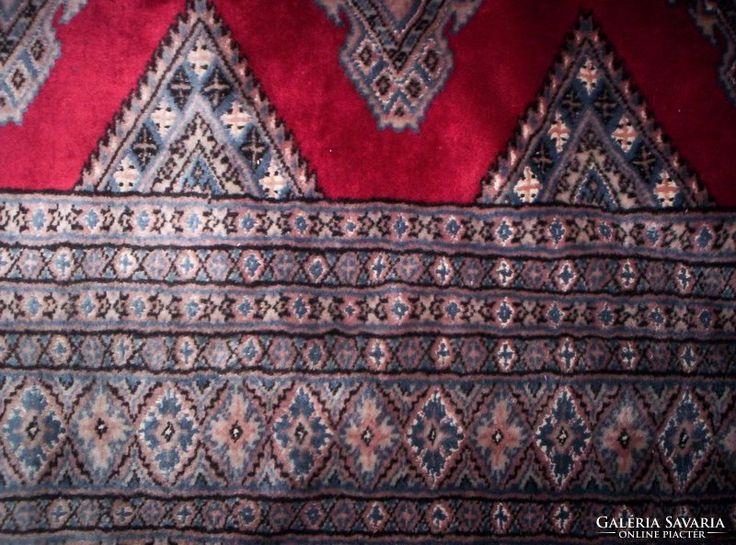 HATALMAS KÉZI selyem perzsa BOKHARAI szőnyeg