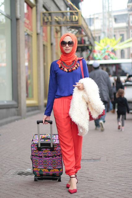 such a bright color from indah nada puspita. I don't think I would wear it