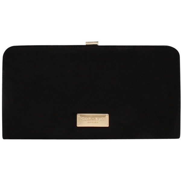 Carvela Glitter Clutch Bag, Black (€76) ❤ liked on Polyvore featuring bags, handbags, clutches, clasp purse, cocktail purse, man bag, holiday purse and microfiber handbags