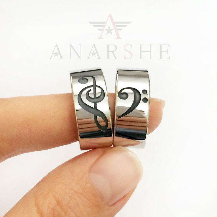 Treble Clef and Bass Clef Couple Ring, Treble Clef and Bass Clef Band Rings Set, Music Ring, Treble Clef Ring, Bass Clef Ring, Music Ring by ShopAnarshe on Etsy https://www.etsy.com/listing/257895862/treble-clef-and-bass-clef-couple-ring