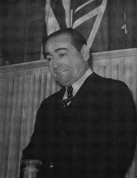 Adnan Menderes, Turkish prime minister, 1960.