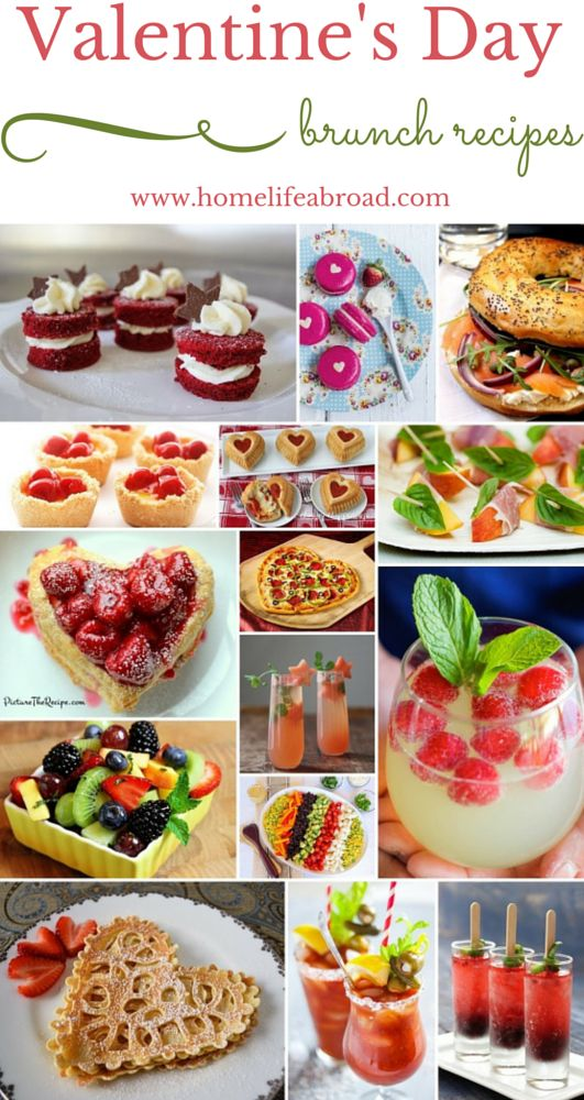 Valentine's Day Brunch Recipes homelifeabroad.com #valentinesday