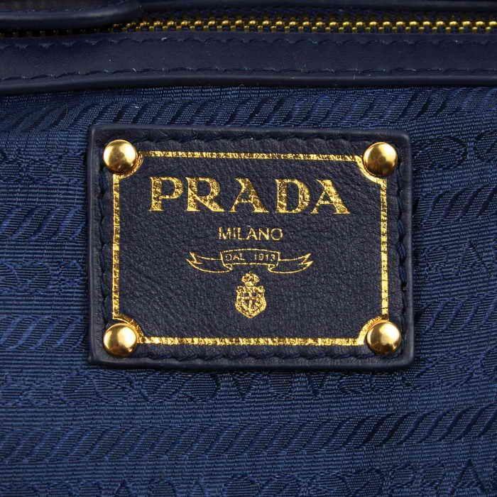 Navy Blue Prada Label