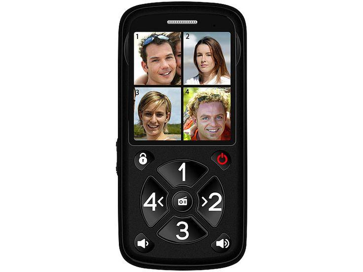 simvalley communications 5-Tasten-Senioren-Handy mit Garantruf Premium, Radio und Ladestation simvalley communications Notruf-Handys