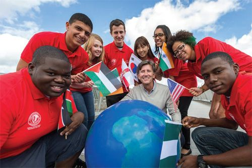 YOUNG PEOPLE FROM AROUND THE GLOBE WITH HOLLYWOOD ACTOR MATT MCCOY