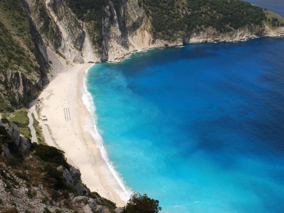 Kephalonia's trademark beach