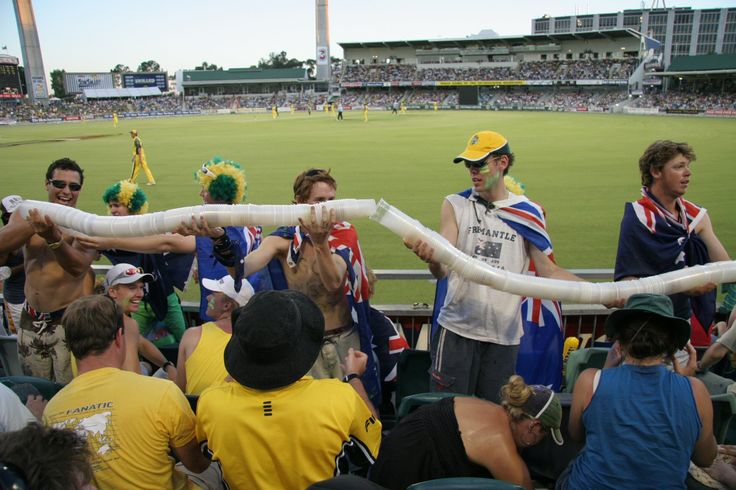 Beer Cup Snake - A Plastic Recycling Option at the Cricket