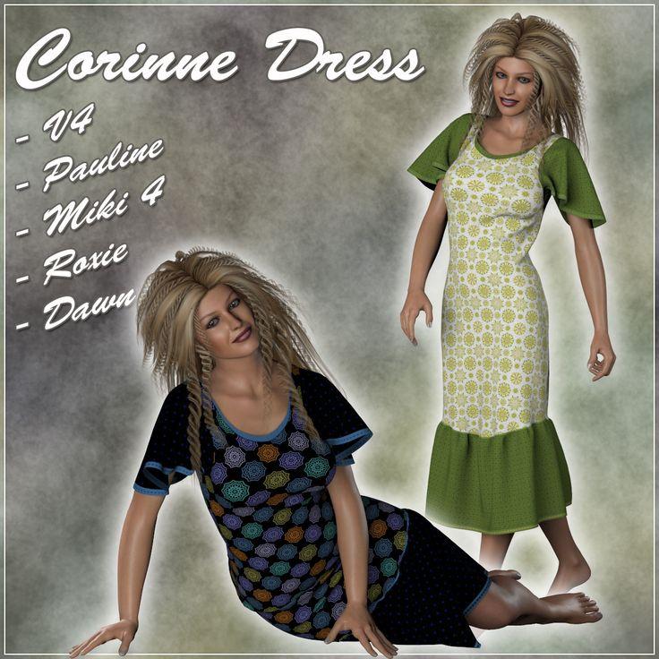 Poser - Corinne Dress for V4, Pauline, Miki 4, Roxie and Dawn by karanta