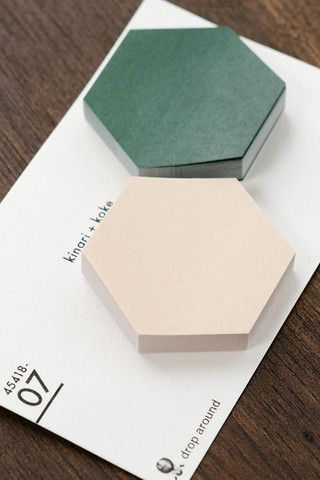Sticky Notes - Fusen (Beige / Moss Green) - kotohogi.co.uk - Japanese Zakka and Handmade Gifts