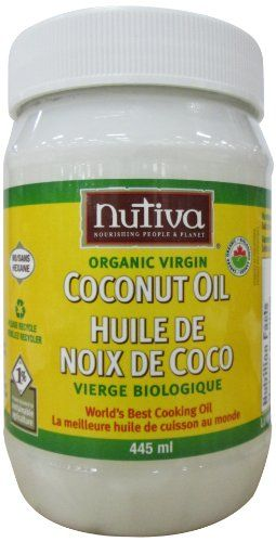"""I use this in place of butter when sautéing veggies, and also cover my body in it after showering/bathing! Sofia loves it too! I also apply it to my face a few times a week before bedtime.....no breakouts or pimples!  I keep one in the kitchen and one in the bathroom.  The uses for coconut oil is endless! Google it!  The smell makes you feel like you are on vacation too! (any brand will work, but apparently  """"organic"""" is a better choice due to processing methods for organic vs non-organic)"""