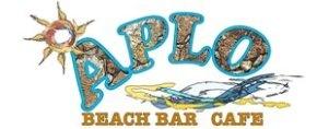 Aplo-Beachbar, Mastihari, Kos, Greece - logo.  www.kos4real.com/aplo-beachbar