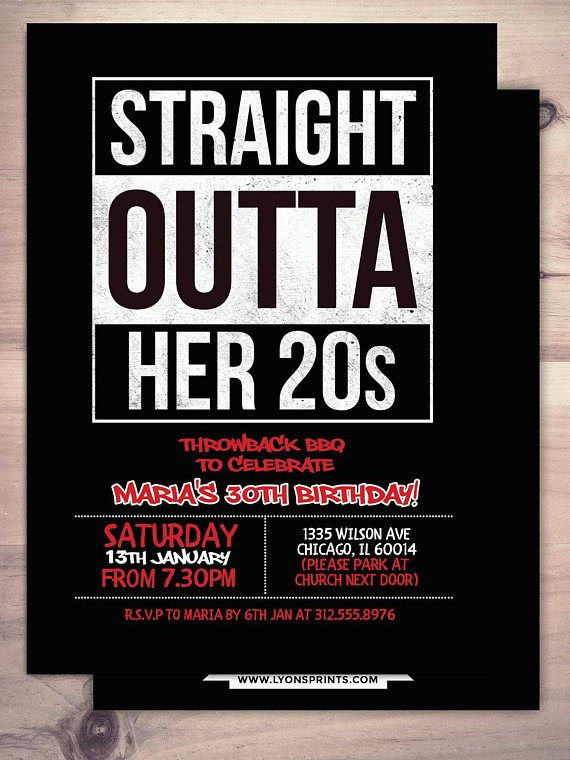 Any AGE Hip Hop House Party 90s 21st 30th Birthday