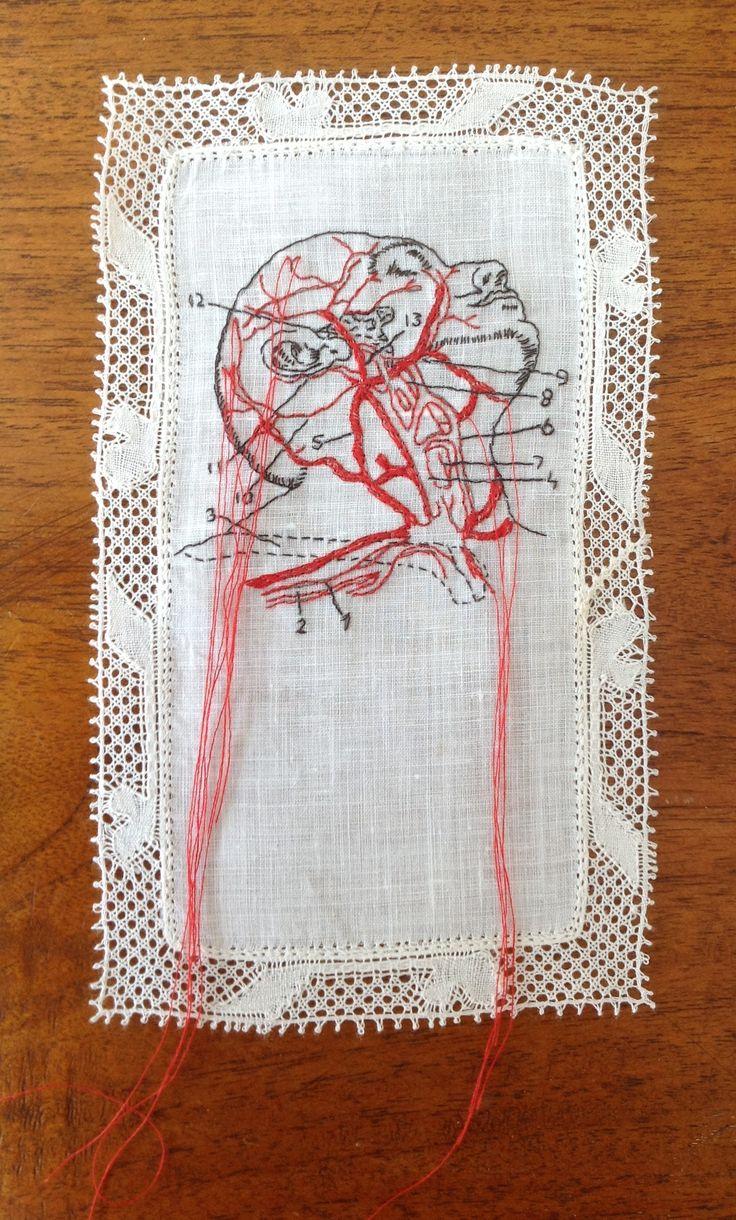 Borduurwerk Karin van der Linden / embroidery art