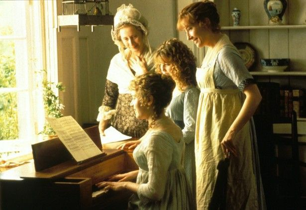 Mrs. Dashwood (Gemma Jones), Margaret Dashwood , Elinor Dashwood , and Marianne Dashwood
