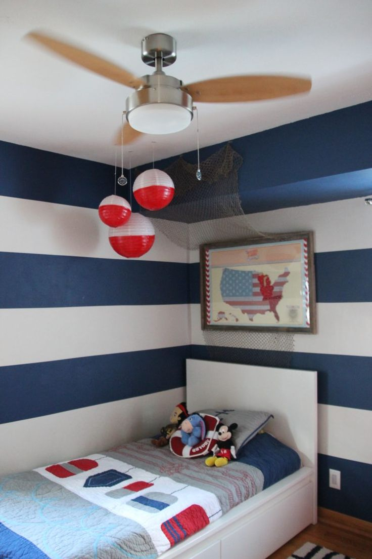 Big buoy room nautical boy rooms and accent walls for Boys room accent wall