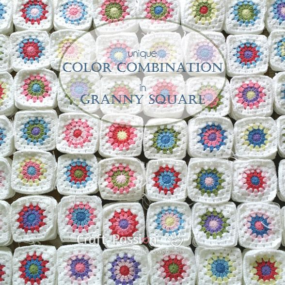 156 best Crochet - Cuadrados images on Pinterest | Crochet blankets ...
