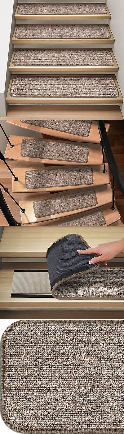 Stair Treads 175517: Set Of 12 Attachable Carpet Stair Treads Pebble Beige Runner Rugs -> BUY IT NOW ONLY: $149 on eBay!