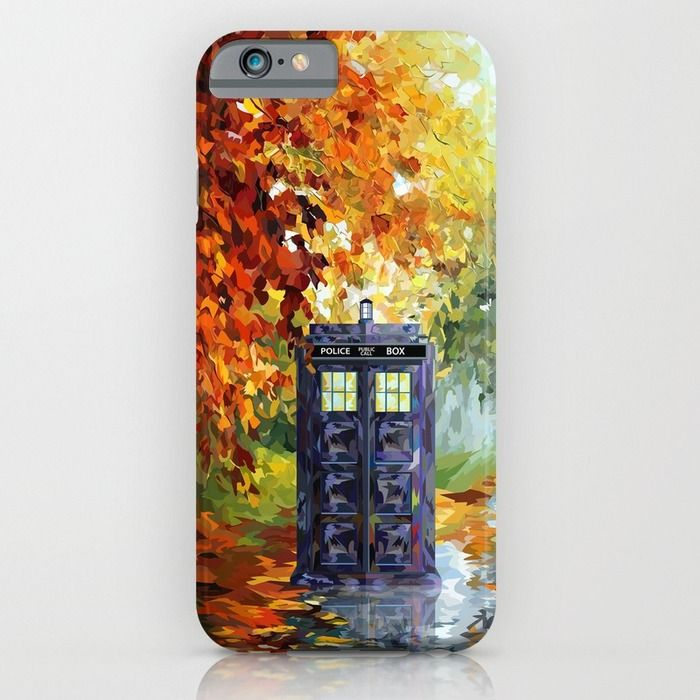 starry Autumn blue phone box Digital Art iPhone 4 4s 5 5c 6, pillow case, mugs and tshirt iPhone & iPod Case