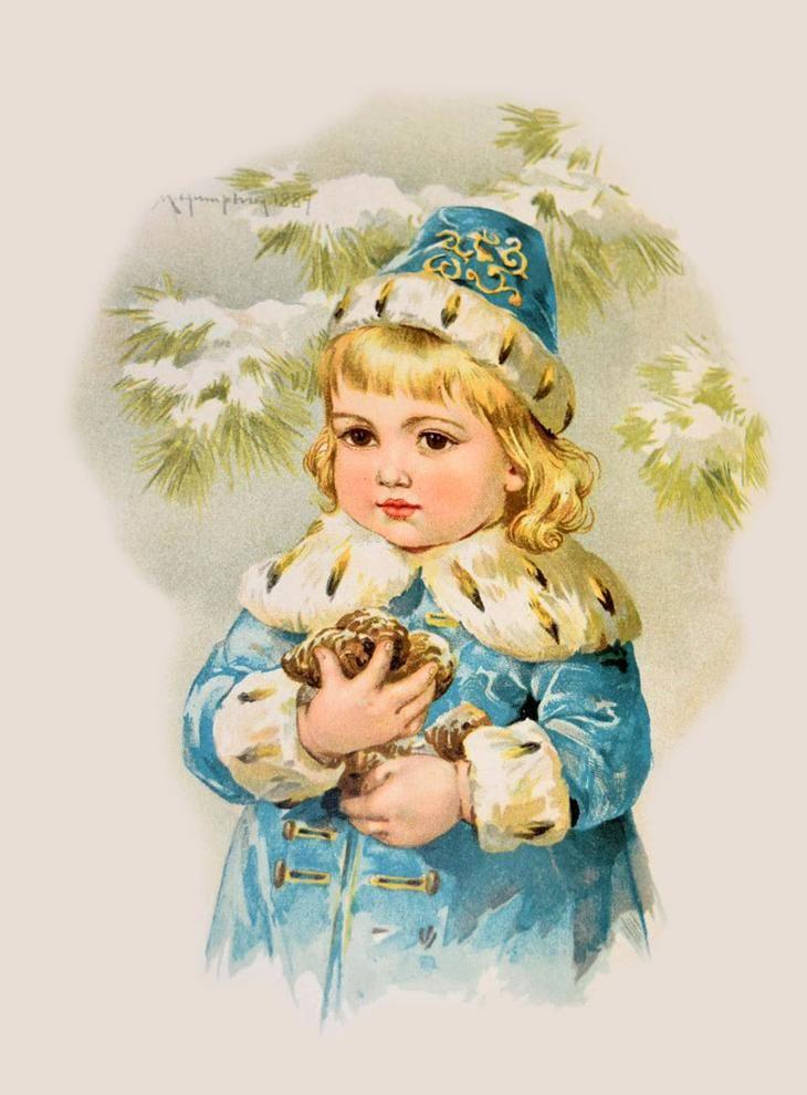 Зарубежные открытки с детьми, днем рождения