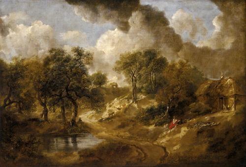 Landscape in Suffolk, Thomas Gainsborough |  1748