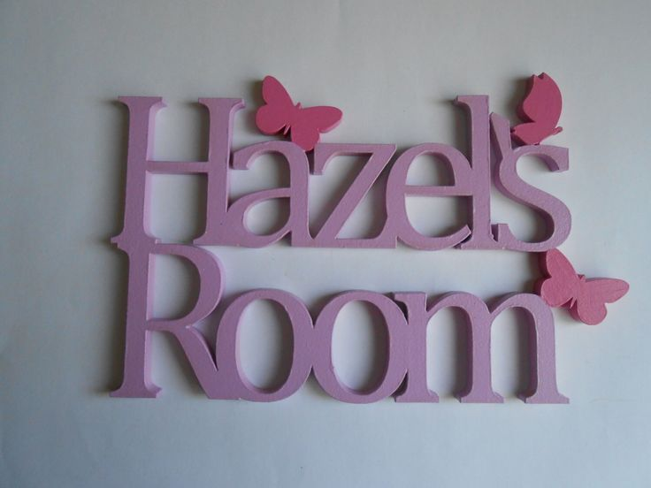 Mdf Childrens Room Decor Signs