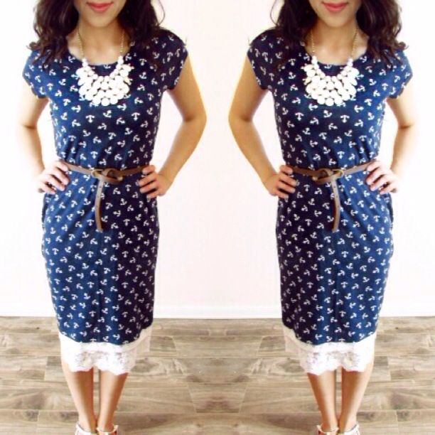 Nautical Anchor Outfit! Summer modest outfit! #modesty #fashion #modestandmodern