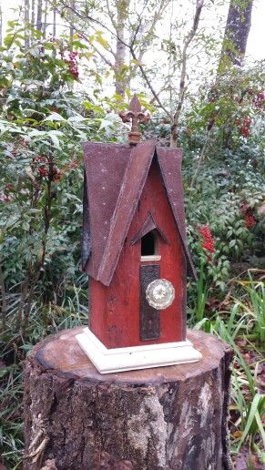 Birdhouse made from Corn crib wood from 1920!