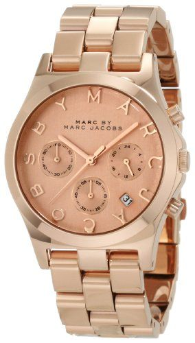 Marc Jacobs Henry Rose Gold Dial Women\u0027s Watch MBM3107: Watches: Amazon.com