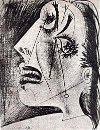 Pablo Picasso - Guernica croquis préparatoires dégénérescence, déclin, modification, métamorphose, transformation, mutation, déformer, décompostion