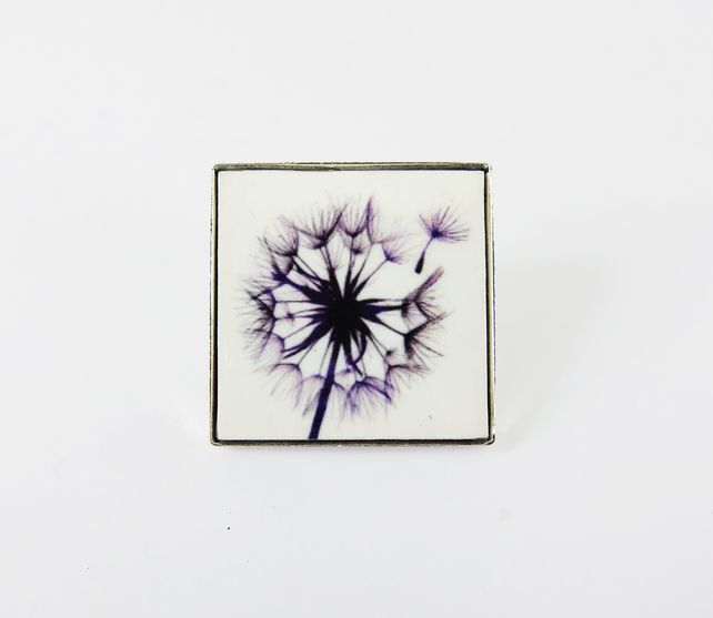 Small Square Colourful Wild Flower Brooch £12.00