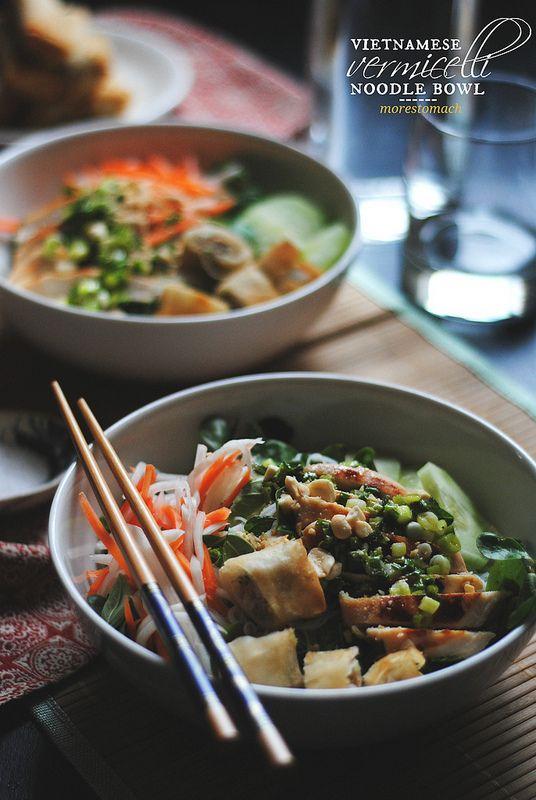 Vietnamese Vermicelli Noodle Bowl {bun thit ga nuong} | morestomach