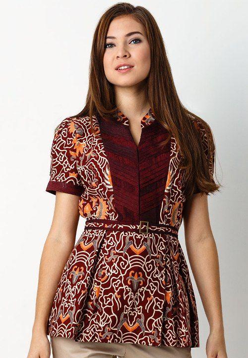 Contoh Baju Batik Santai Wanita  Tren Fashion Terbaru