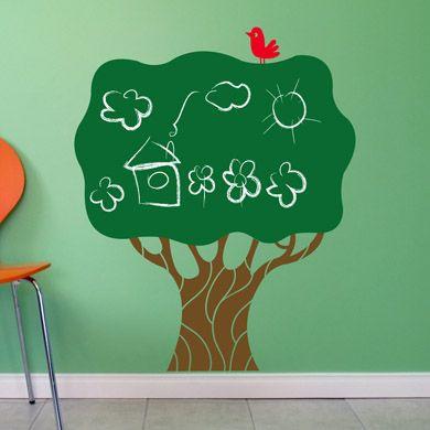 """МЕЛОВОЕ ДЕРЕВО Большое меловое дерево для детской! Если ребенок обожает рисовать на стенах – посадить такое дерево в детской – прекрасное решение. Вообще, купить наши наклейки – это хорошая идея. А дерево, так в особенности :-) Размер """"меловой!"""" кроны 85 на 67 см. В комплект прилагается держатель для мела и 3 мелка. http://www.33dodo.ru/goods.php?id=660"""