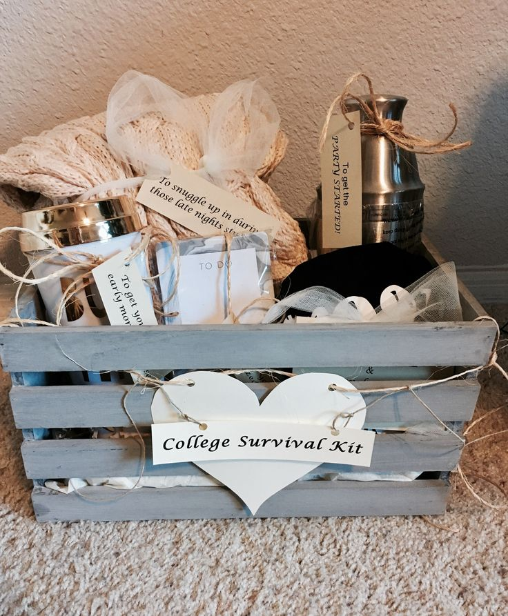 """College Survival Kit"" High School graduation gift for my baby sister ❤‍"