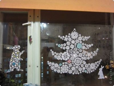 Christmas beautiful snowflakes