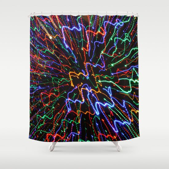 Night light Shower Curtain 68$