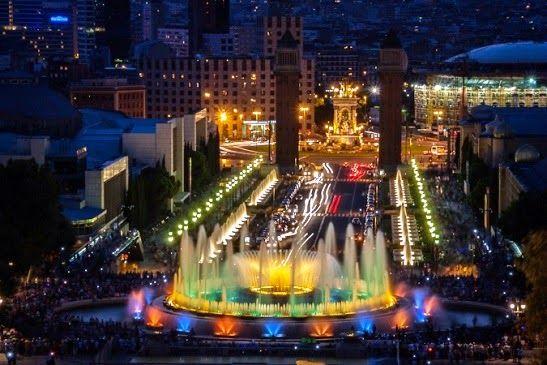La Fuente Màgica de Montjuïc. Barcelona, España.