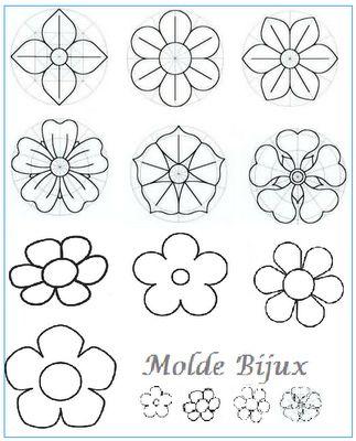 Moldes de Flores by Bijux: bijuterias e acessórios, via Flickr